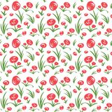 Seamless floral pattern. Vector seamless floral pattern. Hand drawn flowers background Royalty Free Stock Photos
