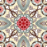 Seamless floral pattern. Vector seamless vintage floral pattern background Stock Images