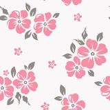 Seamless floral pattern. Vector wallpaper with flowers Stock Photos