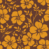 Seamless floral pattern. Vector wallpaper with flowers Royalty Free Stock Photo