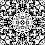 Seamless floral pattern. Vector seamless white and black vintage floral pattern background Royalty Free Stock Image