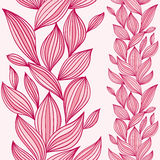 Seamless floral pattern with vertical composition. Stock Images