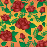 Seamless floral pattern with of vinous roses royalty free illustration