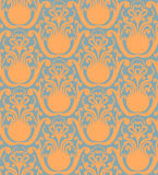 Seamless floral pattern. Vintage seamless decorative floral background in rich colors Stock Images