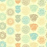 Seamless floral pattern. Vintage flowers on light background. Vector illustration Stock Photography