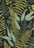 Seamless floral pattern in vintage style. Stock Photo