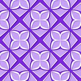 Seamless floral pattern. Violet and lilac 3d designs. Vector illustration Royalty Free Illustration