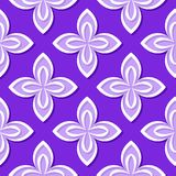 Seamless floral pattern. Violet and lilac 3d designs. Vector illustration Vector Illustration