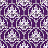 Seamless floral Pattern on violet Stock Images