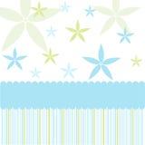 Seamless floral pattern, wallpaper. Seamless blue floral pattern and wallpaper vector illustration