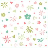 Seamless floral pattern, wallpaper Stock Photography
