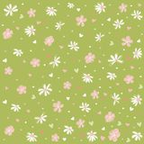 Seamless floral pattern, wallpaper. Digital scrapbook vector illustration