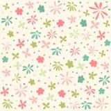 Seamless floral pattern, wallpaper. Digital scrapbook stock illustration