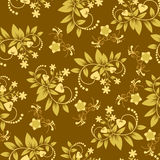 Seamless floral pattern Wallpaper  - Illustration Royalty Free Stock Photos