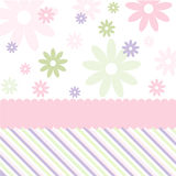 Seamless floral pattern, wallpaper. Seamless pink floral pattern and wallpaper stock illustration