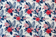 Seamless Floral Pattern on Wallpaper stock photography