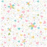 Seamless floral pattern, wallpaper Royalty Free Stock Images