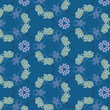 Seamless floral pattern with water lilies Stock Images