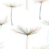 Seamless floral pattern with the watercolor dandelion fuzzies Royalty Free Stock Image