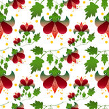 Seamless floral pattern on white background Stock Photos