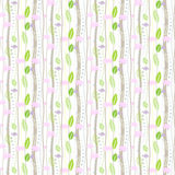 Seamless floral pattern on a white background Royalty Free Stock Photo