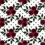 Seamless floral pattern on a white  background. Seamless floral pattern on a white peas background Stock Images