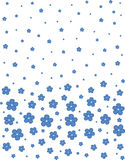 Seamless floral pattern on a white background. Vector. Seamless blue floral pattern on a white background. Vector illustration Stock Illustration