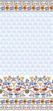 Seamless  floral pattern with wide border Stock Images