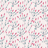 Seamless floral pattern with winter plants Stock Image