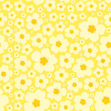 Seamless floral pattern yellow background Royalty Free Stock Photo