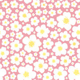 Seamless floral pattern yellow background Royalty Free Stock Photography