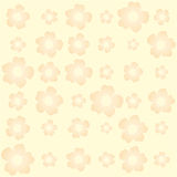 Seamless floral pattern yellow background Stock Images