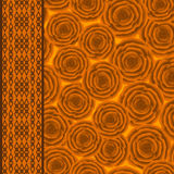 Seamless floral pattern  on yellow background Royalty Free Stock Image