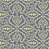 Seamless floral pattern. Seamless yellow and blue floral pattern Stock Images