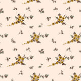 Seamless floral pattern,  yellow flower Stock Photos