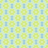 Seamless floral pattern yellow light blue Royalty Free Stock Photos
