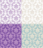 Seamless floral patterns vector illustration