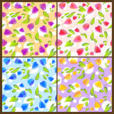 Seamless floral patterns. Set of seamless floral patterns Royalty Free Stock Photos