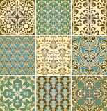 Seamless  Floral Patterns. Retro style seamless floral  paterns Stock Photography