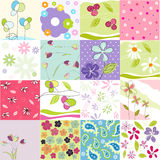 Seamless Floral Patterns Stock Images