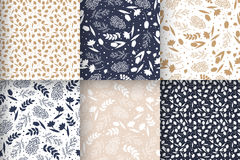 Seamless floral patterns stock illustration
