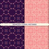 Seamless floral patterns with floral and botanical elements. Flower texture. Kitchen textiles, print for textiles, wallpaper desig stock illustration