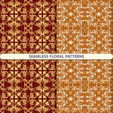 Seamless floral patterns with floral and botanical elements. Flower texture. print for textiles, wallpaper design, turn paper, pa. Seamless floral patterns with stock illustration
