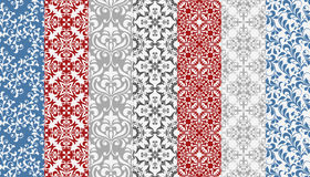 Seamless  Floral Patterns. Bright different colors, background, pattern or wrapping paper Royalty Free Stock Photos