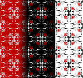 Seamless floral patterns Stock Photography