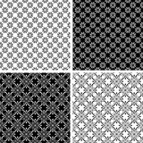 Seamless floral patterns set. Royalty Free Stock Images