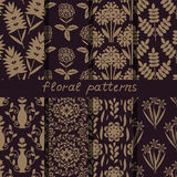 Seamless floral patterns Stock Photos