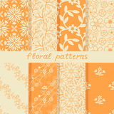 Seamless floral patterns Royalty Free Stock Photo