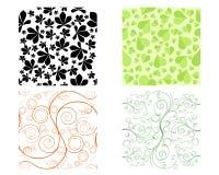 Seamless floral patterns. Vector illustration of a four seamless floral patterns stock illustration