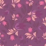 Seamless floral patterns. Seamless floral patterns on violet background vector illustration